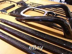 Porsche Cayenne En Fibre De Carbone Intérieur Set Kit 19 Pc 955 957 Véritable Fibre De Carbone