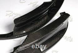 Pour 12-18 Bmw Série 3 M-sport M-tech F30 F35 Réel En Fibre De Carbone Pare-chocs Avant Lèvres