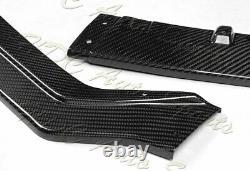 Pour 18-21 Infiniti Q50 Sport Real Carbon Fibre Avant Bumper Body Kit Spoiler Lip