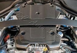 Pour 2009-2015 Nissan 370z Z34 Poids Léger En Fibre De Carbone Réel Du Couvercle Du Moteur Kit