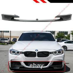 Pour 2012-18 Bmw F30 3 Series M Sport Real Carbon Fiber Front Bumper Lip Splitter
