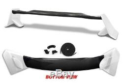 Pour 2016-18 Honda CIVIC 4dr / Sedan Type-r Trunk Blanc Véritable Usine Carbone Spoiler