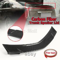 Pour Cadillac Cts-v Berline 4 Portes, 2008-2013 Real Fibre De Carbone Trunk Spoiler Aile Couvercle