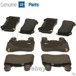 Pour Chevy Chevrolet Camaro Ss V8 6.2l Front & Rear Brake Pad Sets Kit Genuine Gm