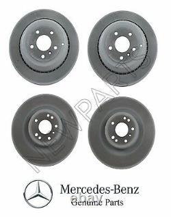 Pour Mercedes W164 X164 ML Gl R Set 2 Front & Rear Disc Brake Rotors Kit Genuine