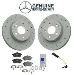 Pour Mercedes W204 C250 Ensemble De 2 Rotors Ventilés Avant Avec Pads & Kit Véritable De Capteur