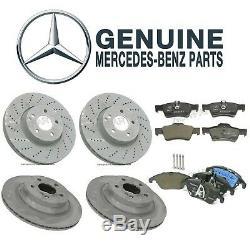 Pour Mercedes W212 E350 E400 Avant Et Arrière Frein À Disque Rotors & Pads Kit Véritable