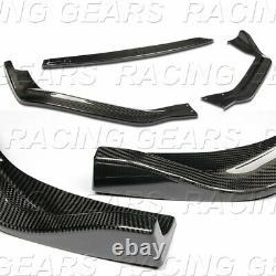 Real Carbon Fiber Pare-chocs Avant Lip 3pc Fit 14-16 Lexus Is250 Is350 F-sport Berline
