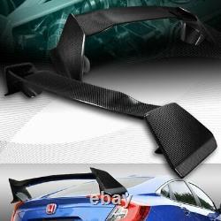Real Carbon Fibre Type-r Style Arrière Trunk Spoiler Wing Fit 16-20 Honda CIVIC 4dr