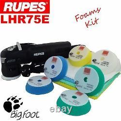 Rupes Bigfoot Lhr75e 3 Foams Kit Détaillant 12mm Orbit Polishing Machine