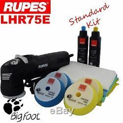 Rupes Bigfoot Lhr75e Kit De Tampon De Polissage Pour Polisseuse De Polissage Orbital 3 Aléatoires