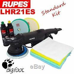 Rupes Lhr21es Orbital Polisseur Kit De Voiture De Polissage Pads Machine, Tissu, Composés