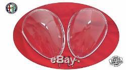 Scheinwerferabdeckungen Plexiglas Spider 105/115 66-93 Kit Satz Alfa Romeo