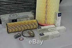 Service Filtre Véritable Mercedes-benz W204 Classe C C180 C200 Kompressor Kit Nouveau