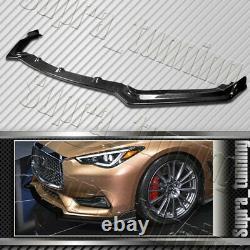 V-style Pour 2017-2020 Infiniti Q60 Coupe Real Carbon Fiber Front Bumper Lip Kit