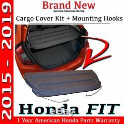 Véritable Couverture Oem Honda Fit Noir Cargo Kit 2015- 2019 Arrière Du Plateau