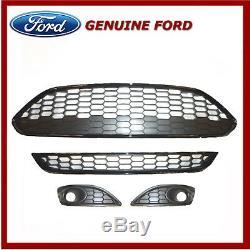 Véritable Ford Fiesta 2012 Onwards Zetec S / Sport Honeycomb Grille & Bezel Kit