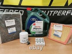 Véritable Ford Fiesta Mk7 1.0 Ecoboost Full Service Kit Oil Air Pollen Filter