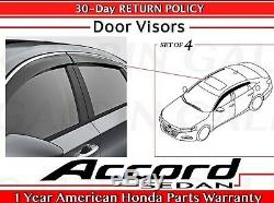 Véritable Honda Accord Berline Oem 4dr Porte Visor Kit 2018- 2020 08r04-tva-101