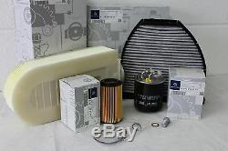 Véritable Huile Mercedes-benz W204 Service Classe C Diesel Filtre Kit Nouveau