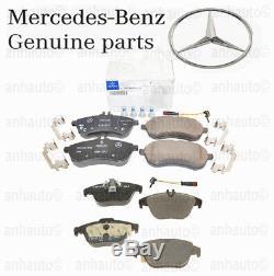 Véritable Mercedes Avant + Plaquettes De Frein À Disque Arrière Kit & Capteurs C250 12-15 / 08-12 C300