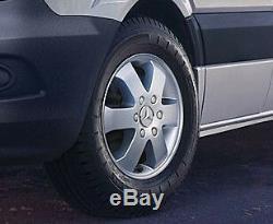 Véritable Mercedes-benz Sprinter 16 Roues En Alliage 6 Goujon & H-cap Kit