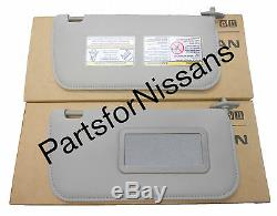 Véritable Nissan Frontier Xterra Tissu Gris Lh 2002-2004 Rh Miroir Pare-soleil Kit