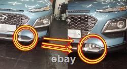 Véritable Oem Front Bumper Fog Lamp Light Complete Kit For Hyundai Kona 2018 2019+