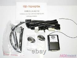 Véritable Toyota Corolla Ae112 Kit De Verrouillage Central Et D'alarme À Distance