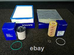 Véritable Volvo D5 Diesel Service Kit Oil Air Fuel Cabin Filter V70 S60 Xc90 S80