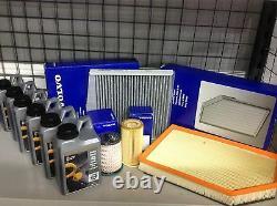 Véritable Volvo Full Service Kit Xc60 D5 Air / Huile / Pollen / Carburant / Filtres Et 6ltrs Huile