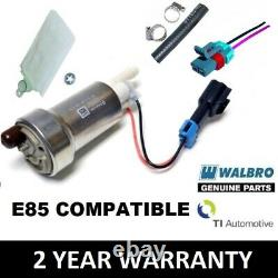 Véritable Walbro 450 Lph Haute Performance Pompe À Essence + Kit D'installation E85 F90000267