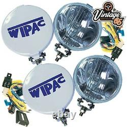 Voiture Classique Austin Mg Triumph Wipac Chrome Driving Spot & Fog Lamps + Wiring Kit