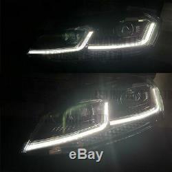 Vw Golf Mk7 Mk7.5 Head Lampes Led Drl Bi Indicateur Sequentiel Swipe Swipe Uk X