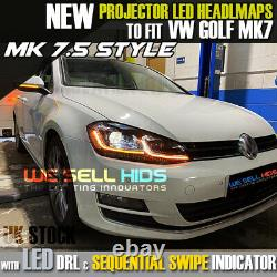 Vw Mk7.5 Headlamps Pour Mk7 Golf Led Drl Bi Xenon Gtd Swipe Sequential Indicator Vw Mk7 Golf Led Drl Bi Xenon Gtd Swipe Sequential Indicator Vw Mk7 Golf Led Drl Bi Xenon Gtd Swipe Sequential Indicator Vw Mk7 Golf Led Drl Bi Xenon Gtd Swipe Sequential Indicator Vw
