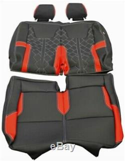 Vw Transporter Sportline T6, Seat T5.1 En Cuir Couvre Véritable Noir Kits Garniture