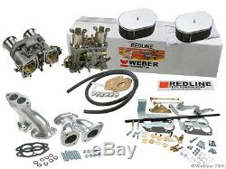Weber Carburateur Kit Vw Bug & Type 1 Double 44 Idf Redline Kit Withgenuine Webers