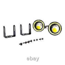 White Halo Fog Lamps Lights Kit Pour Ford Mustang Eleanor Shelby Gt-500 Fastback